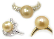 Golden South Sea Pearl Rings