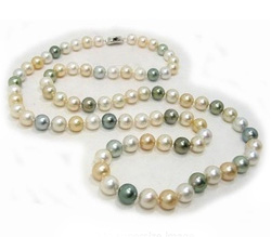 Multicolor South Sea Pearl Necklace Rope