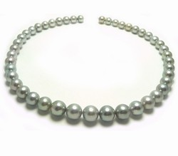 Silvery Tahitian Pearl Necklace