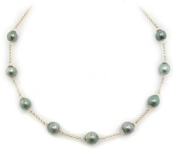 Tahitian Pearl Tincup Necklace