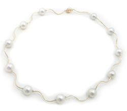 White South Sea Pearl Necklace with Diamonds