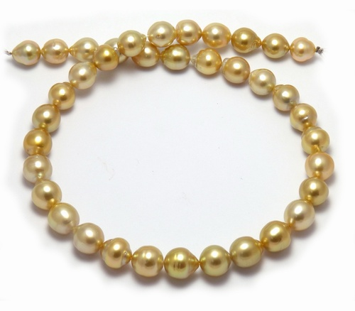 Deep golden South Sea pearl necklace