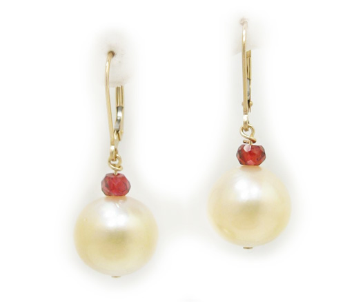 Golden South sea Pearl Earrings, Golden South Sea Pearls, Golden South Sea Pearl Jewelry