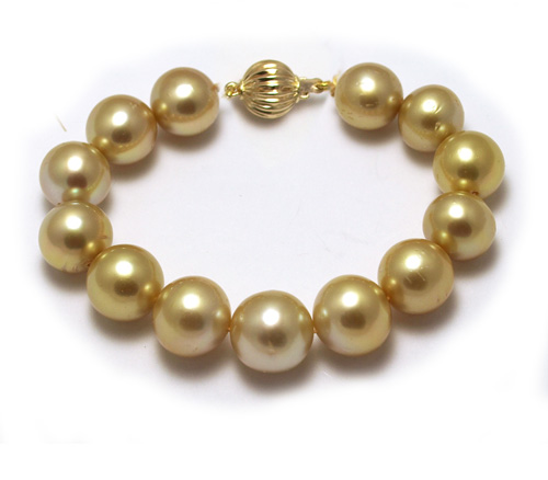 deep golden pearl bracelet