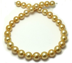 16mm Golden South Sea Pearl Necklace