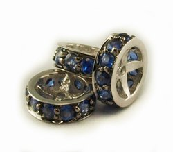 Sapphire Rondels for Pearl Necklace