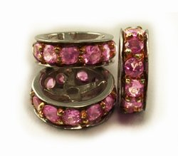 Pink Sapphire Rondels for Pearl Necklace