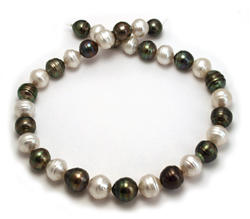 Black and White South Sea Pearl Necklace