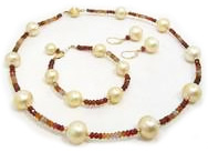 South Sea Pearls with Colored Gemstones