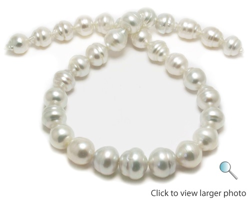 15mm White South Sea Pearl Strand Necklace
