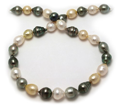South Sea Pearl Necklace with Black Pearls