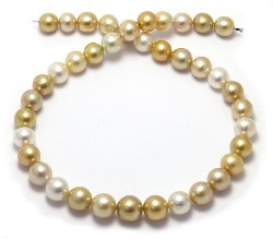 White and Gold South Sea Pearl Necklace