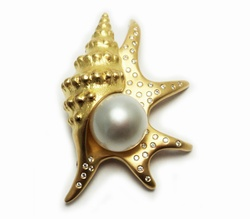 Golden South Sea Pearl , Golden South Sea Pearl Pendant
