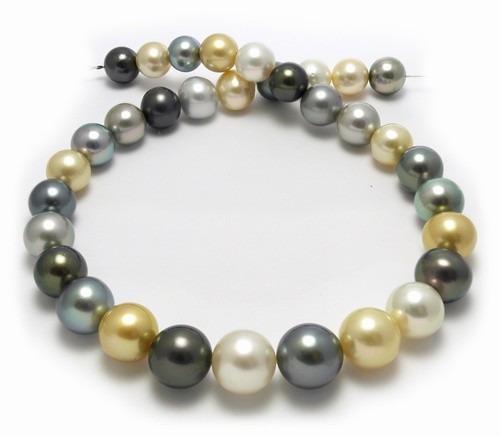 Pelosi Style South Sea Pearl necklace with Black Pearls