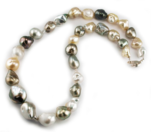 Drop Shaped Tahitian Pearl Necklace