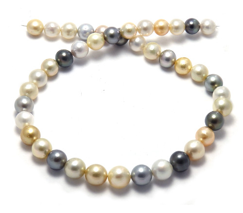 Pelosi Style South Sea Pearl necklace with Near-round Pearls