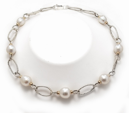 Tincup White South Sea Pearl necklace