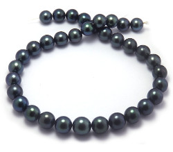 Blue-green Tahitian Pearl Necklace