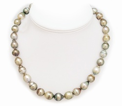 Bronze Silver Tahitian Pearl Necklace