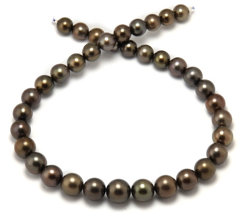 Natural Chocolate Tahitian Pearl Necklace