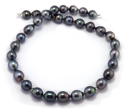 Blue Tahitian Pearl Necklace