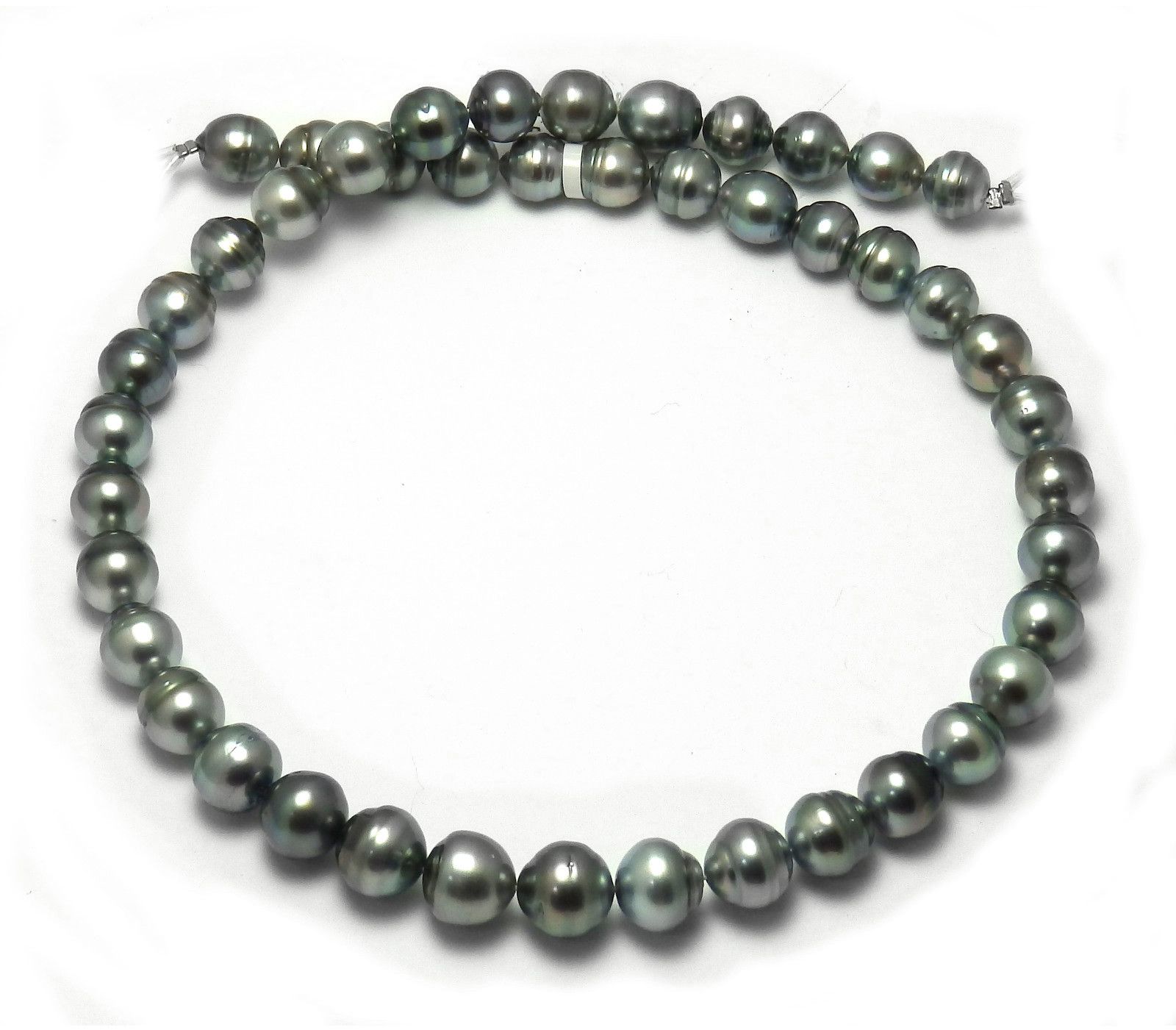 Discount Tahitian Pearl Necklace with Gray Tahitian Circle ...