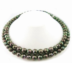 Two Strand Tahitian Pearl Necklace