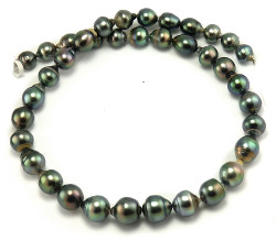 Peacock Green Tahitian Pearl Necklace