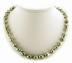 Pistachio Tahitian Pearl Necklace