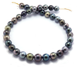Rainbow Tahitian Pearls Necklace