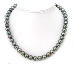 Semi Round Tahitian Pearl Necklace