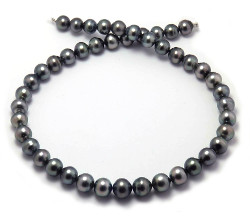 Semi-round Tahitian Pearl Necklace