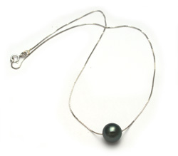 Tahitian Pearl Solitaire Necklace