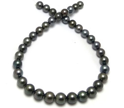 Tahitian Black Pearls Necklace