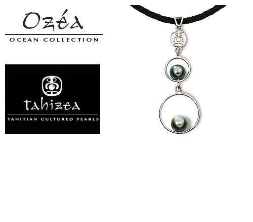 Tahizea Tahitian Pearl Necklace in Sterling Silver