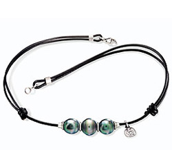 Tahizea Tahitian pearl necklace trio